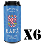 Hana Imperial Pilsner 6 x 440ml 6 pack