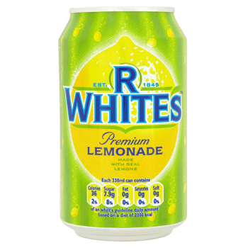 R Whites Lemonade 24 x 330ml cans